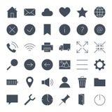 Icônes solides de Web d'UI Image libre de droits