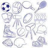 Icônes sportives réglées Image libre de droits