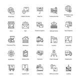 Icônes stimulantes de la livraison de logistique Photos stock