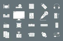 Icônes vidéo-audio d'équipement - Web et mobile 02 d'ensemble illustration de vecteur