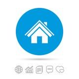 Icône à la maison de signe Bouton de page principale navigation Photographie stock libre de droits