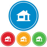 Icône à la maison, silhouette de maison Image stock