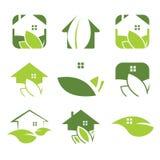 icône écologique de maison Images stock