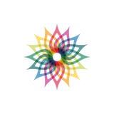 Icône abstraite colorée Photo stock