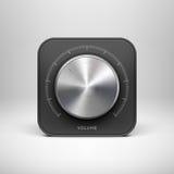 Icône de technologie avec avec la texture de musique en métal Images libres de droits