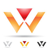 Icône abstraite pour la lettre W Image libre de droits