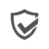 Icône active de bouclier de protection Image stock