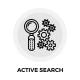 Icône active de recherche Photo libre de droits