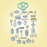 Icône alimentaire de cuisine Photos libres de droits