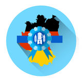 Icône allemande de vacances de festival d'Oktoberfest de bière de carte Photos libres de droits