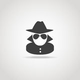 Icône anonyme d'espion Image stock