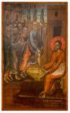 Icône antique du monastère du Panayia Kera.Island de Crète Photographie stock