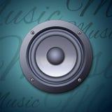 Icône audio de haut-parleur Images stock