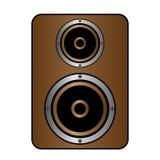 Icône audio de haut-parleur Images libres de droits
