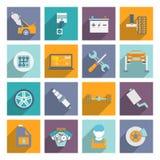 Icône automatique de service plate Photographie stock libre de droits