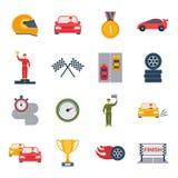 Icône automatique de sport plate Photo libre de droits