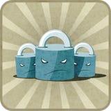 Icône avec des serrures Images libres de droits
