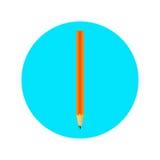 Icône avec un crayon Images stock