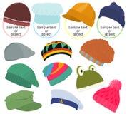 Icône B réglé de chapeau photos libres de droits