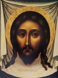 Icône bizantine dans le monastère de transfiguration, Iaroslavl, Russie Photographie stock libre de droits