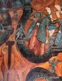 Icône bizantine dans le monastère de transfiguration, Iaroslavl, Russie Images libres de droits
