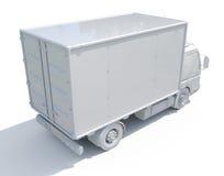 icône blanche de camion de livraison 3d Photos libres de droits