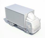 icône blanche de camion de livraison 3d Photo libre de droits