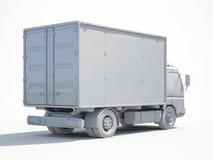 icône blanche de camion de livraison 3d Image libre de droits