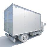 icône blanche de camion de livraison 3d Image stock