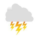 icône blanche de rayon de nuage Images libres de droits