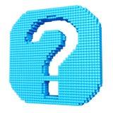 Icône bleue d'aide faite de cubes Images libres de droits