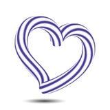 Icône bleue de coeur de couleur de symbole isométrique d'amour de l'illustration 3d, d'isolement sur le fond blanc, vecteur ENV 1 Photo libre de droits