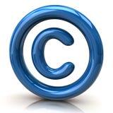 Icône bleue de copyright Photos stock