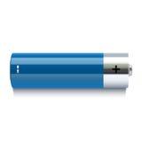 Icône bleue réaliste de batterie Photos libres de droits