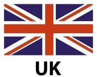 Icône BRITANNIQUE de drapeau photographie stock libre de droits