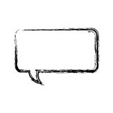 icône brouillée de zone de dialogue de rectangle de silhouette Photo stock