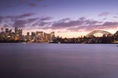 Icône célèbre du ` s de Sydney, Sydney Opera House, Sydney Harbour Bri Photos stock