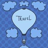 Icône chaude de conception de ballon à air dans le ciel Style plat de conception Silhouette chaude de ballon à air Icône plate mo Photos libres de droits
