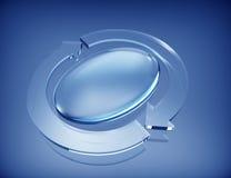 Icône circulaire de flèches Images libres de droits