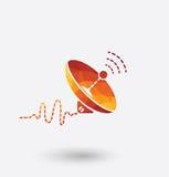 Icône colorée d'antenne parabolique sur le fond blanc illustration libre de droits