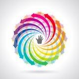 Icône colorée de cycle de vie de vecteur Photos libres de droits