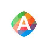 Icône colorée de l'initiale A Image libre de droits