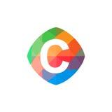Icône colorée de l'initiale C Images stock