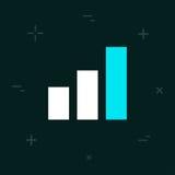 Icône colorée de style minimal plat de diagramme de vecteur Image libre de droits