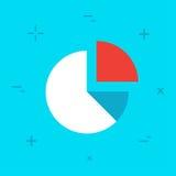 Icône colorée de style minimal plat de diagramme de vecteur Photos libres de droits