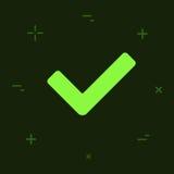 Icône colorée de style minimal plat de vecteur Image stock