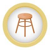 Icône colorée de vecteur de chaise Images libres de droits