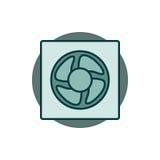 Icône colorée de ventilation Photos libres de droits