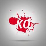 Icône combinée de ko de fatalité Photographie stock