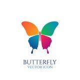 Icône conceptuelle de papillon logo illustration de vecteur